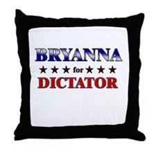BRYANNA for dictator Throw Pillow
