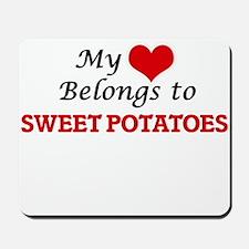My Heart Belongs to Sweet Potatoes Mousepad