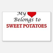 My Heart Belongs to Sweet Potatoes Decal