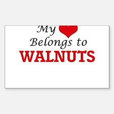 My Heart Belongs to Walnuts Decal