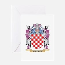 Verbeek Coat of Arms - Family Crest Greeting Cards