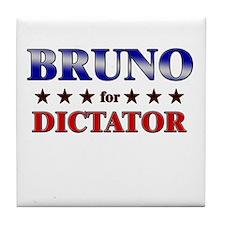 BRUNO for dictator Tile Coaster
