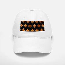 ROYAL1 BLACK MARBLE & ORANGE MARBLE (R) Baseball Baseball Cap