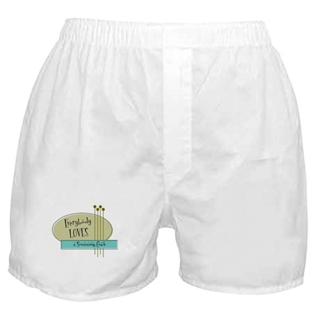 Everybody Loves a Swimming Coach Boxer Shorts