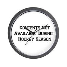 Hockey Season Wall Clock