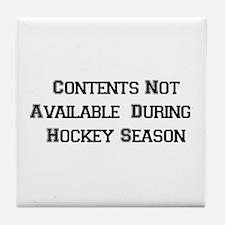 Hockey Season Tile Coaster