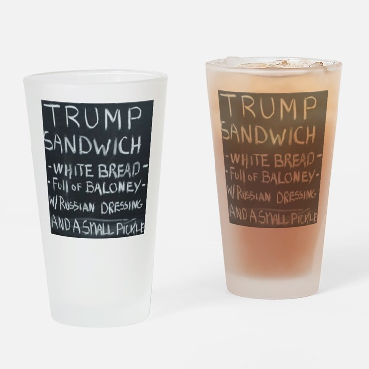 Trump Sandwich Drinking Glass