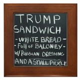 Trump sandwich Framed Tiles