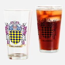 Villanova Coat of Arms - Family Cre Drinking Glass