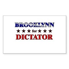 BROOKLYNN for dictator Rectangle Decal