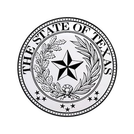 "Texas State Seal 3.5"" Button"