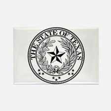 Texas State Seal Rectangle Magnet