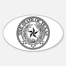 Texas State Seal Oval Decal