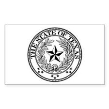 Texas State Seal Rectangle Decal