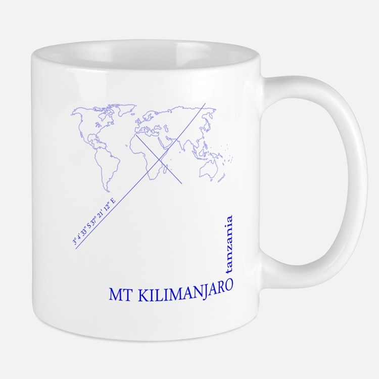 Kilimanjaro Geocode (blue) Mugs