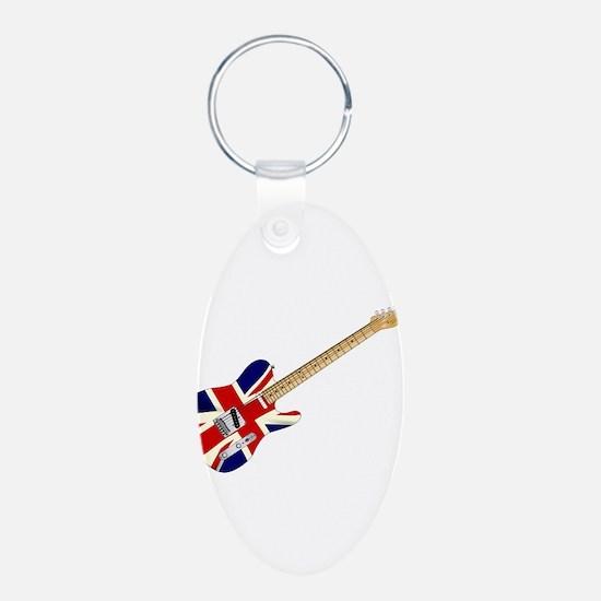 Union Jack Slab Guitar Keychains