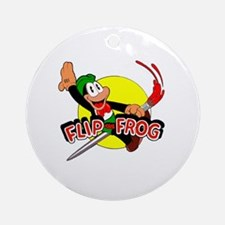 Cute Cartoon frog Round Ornament