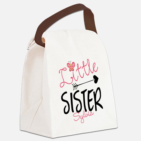 Little Sister Butterfly Personalized Canvas Lunch
