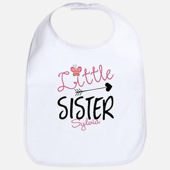 Little Sister Butterfly Personalized Bib