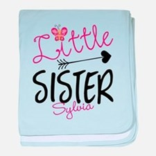 Little Sister Butterfly Personalized baby blanket