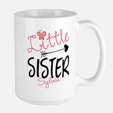 Little Sister Butterfly Personalized Mugs