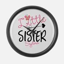 Little Sister Butterfly Personalized Large Wall Cl