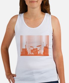 Rock Band Equipment On Stage Tank Top