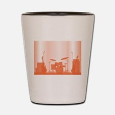 Rock Band Equipment On Stage Shot Glass