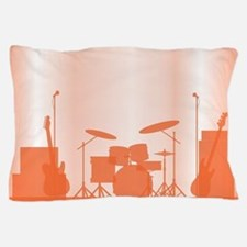 Rock Band Equipment On Stage Pillow Case