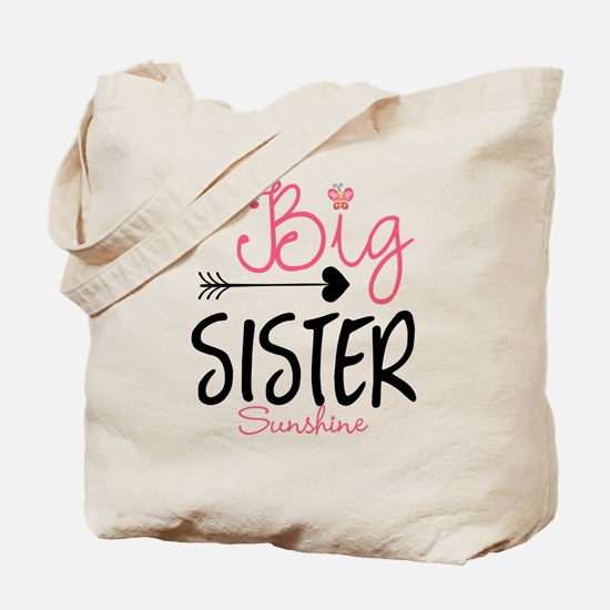 Big Sister Arrow Butterflyl Personalized Tote Bag