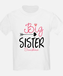 Big Sister Arrow Butterflyl Personalized T-Shirt