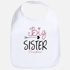 Big Sister Arrow Butterflyl Personalized Bib