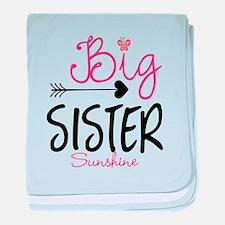 Big Sister Arrow Butterflyl Personalized baby blan