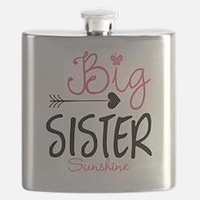 Big Sister Arrow Butterflyl Personalized Flask