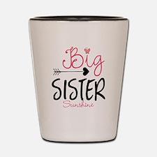 Big Sister Arrow Butterflyl Personalized Shot Glas