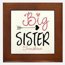 Big Sister Arrow Butterflyl Personalized Framed Ti