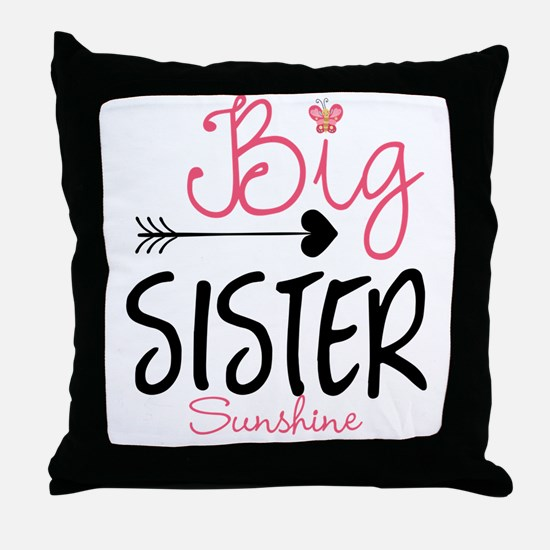 Big Sister Arrow Butterflyl Personalized Throw Pil