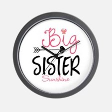 Big Sister Arrow Butterflyl Personalized Wall Cloc