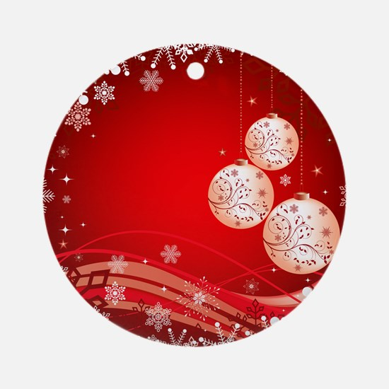 Decorative Christmas Ornamental Sno Round Ornament