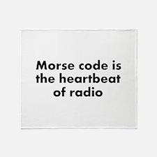 Heartbeat of radio Throw Blanket