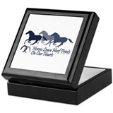 Horses leave hoofprints on our hearts Square Keepsake Boxes
