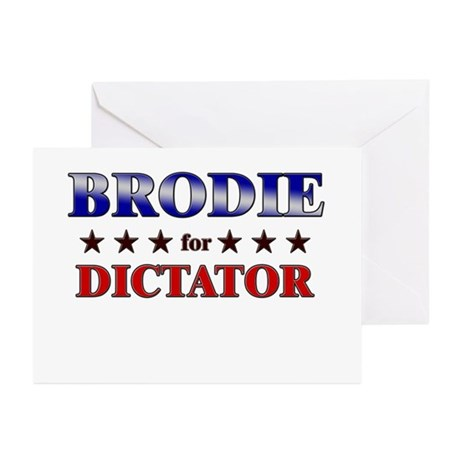 BRODIE for dictator Greeting Cards (Pk of 10)