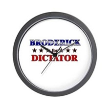 BRODERICK for dictator Wall Clock