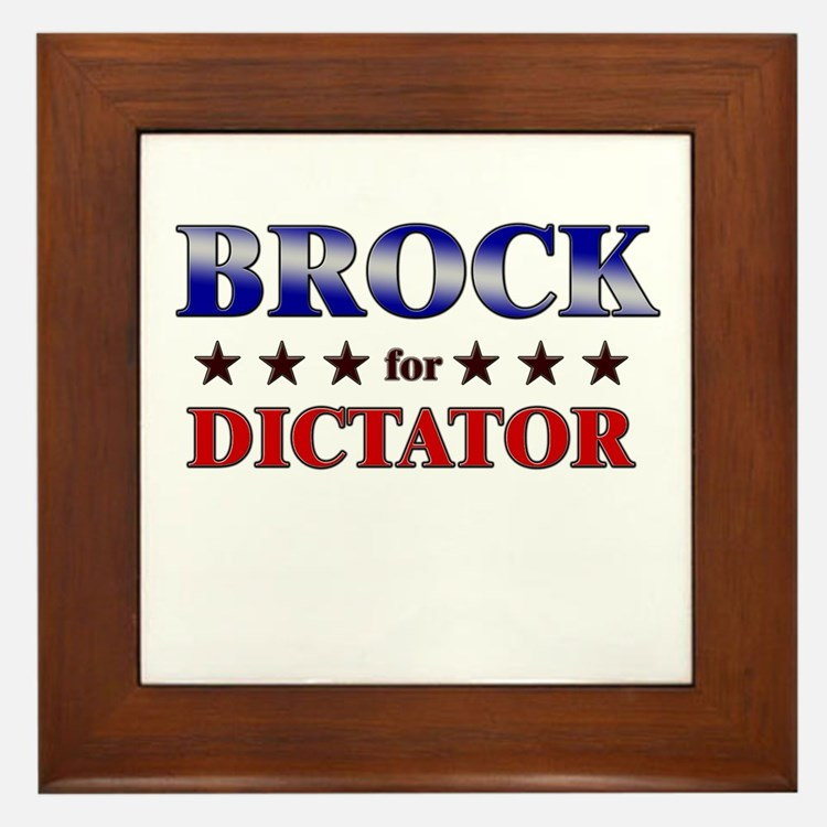 BROCK for dictator Framed Tile