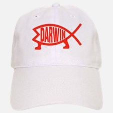 Original Darwin Fish (Red) Baseball Baseball Cap