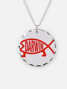 Original Darwin Fish (Red) Necklace