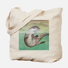 Funny River otter Tote Bag