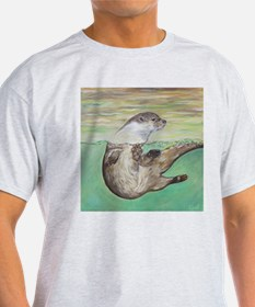 Playful River Otter T-Shirt