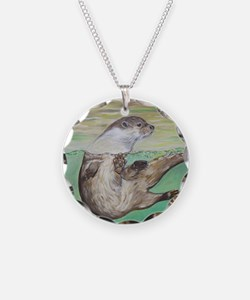 Playful River Otter Necklace