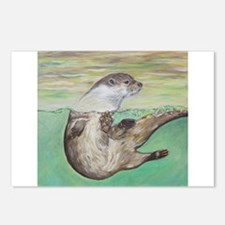 Playful River Otter Postcards (Package of 8)